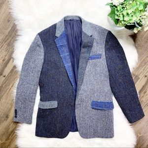 • Brooks Brothers Harris Tweed Wool Blazer •